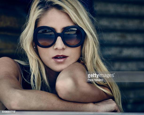 Woman wearing sunglasses outdoors