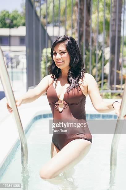 woman wearing swimsuit