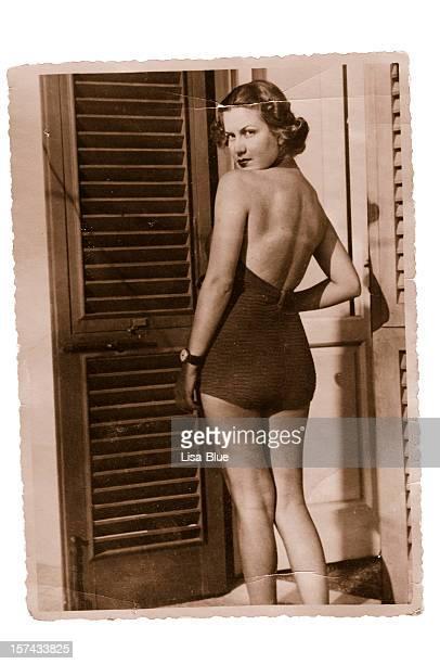 Woman  wearing swimwear in 1935