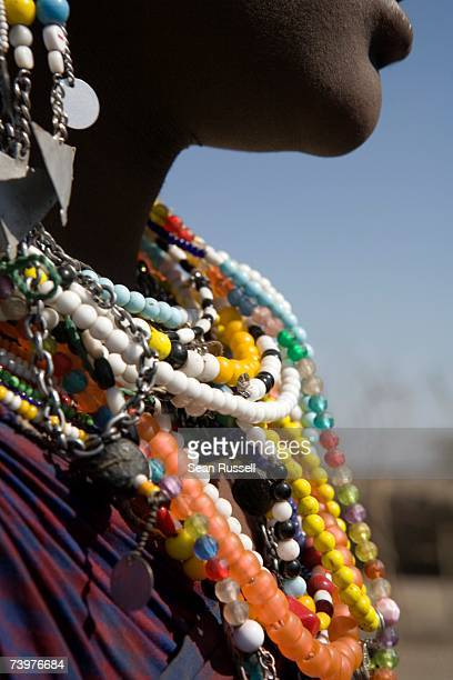 Woman wearing traditional beads