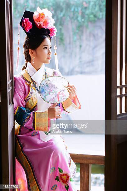 Woman wearing traditional clothes
