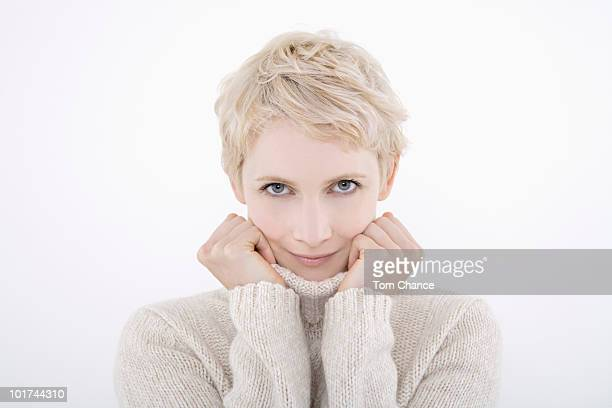 Woman wearing turtleneck, portrait