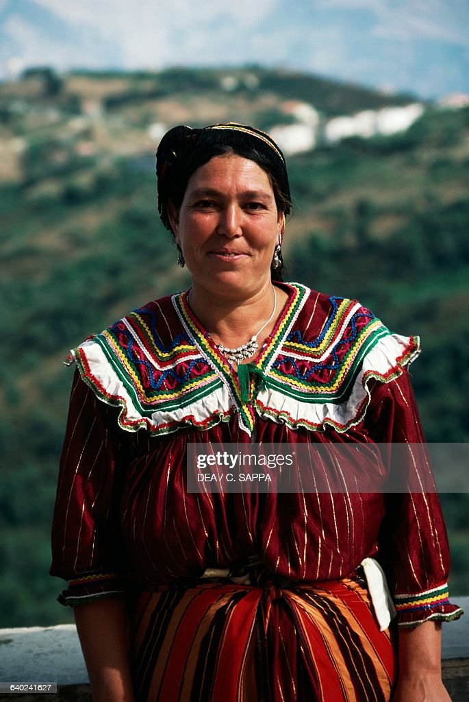 A woman wearing typical clothes Tizi-Ouzou Great Kabylia Algeria. News Photo - Getty Images