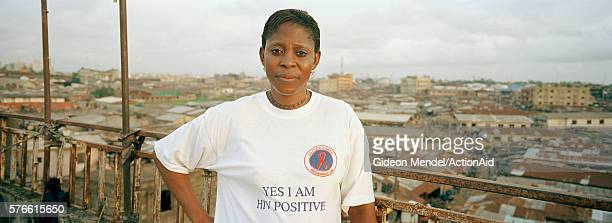 Woman Wearing 'Yes, I am AIDS Positive' T-Shirt