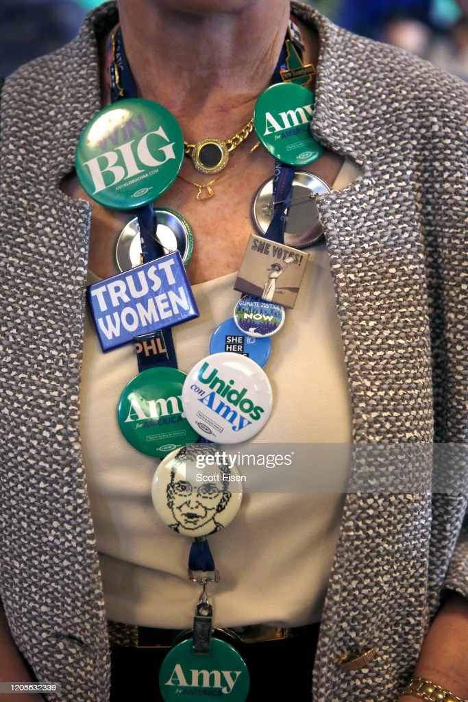 Presidential Candidate Amy Klobuchar Holds Primary Night Event In New Hampshire : News Photo