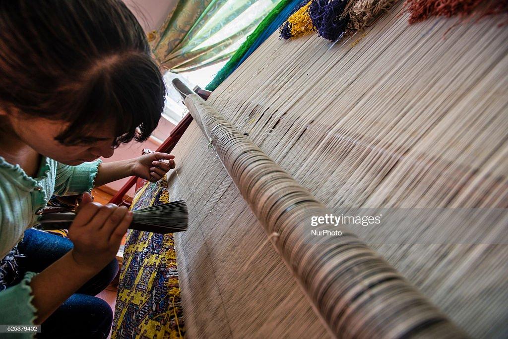 Samarkand-Bukhara Silk Carpets : News Photo