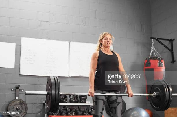 Woman weightlifting in the gym