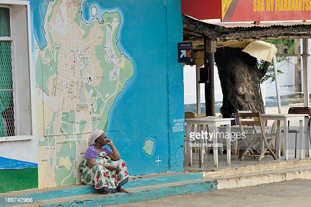 Woman weiting.... In Diego Suarez - Madagascar