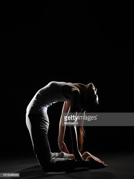 Woman who does stretch
