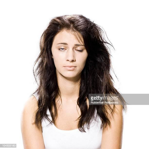 woman who just woke up