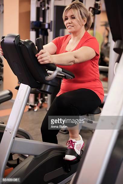 Woman who loves a good cardio workout. Debica, Poland