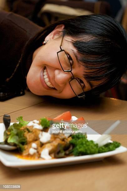 woman who loves good food - 盛岡市 ストックフォトと画像
