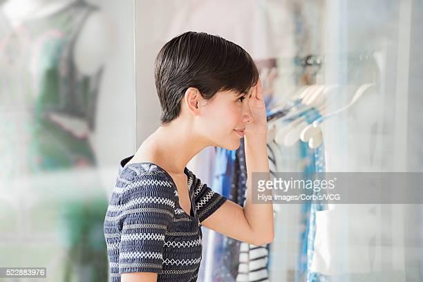 Woman window-shopping