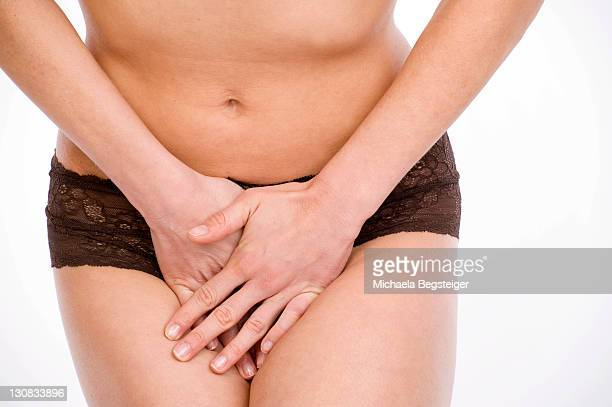Woman with a bladder weakness, urinary incontinence