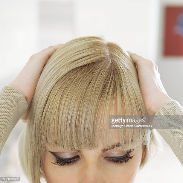 Woman with a blond bob