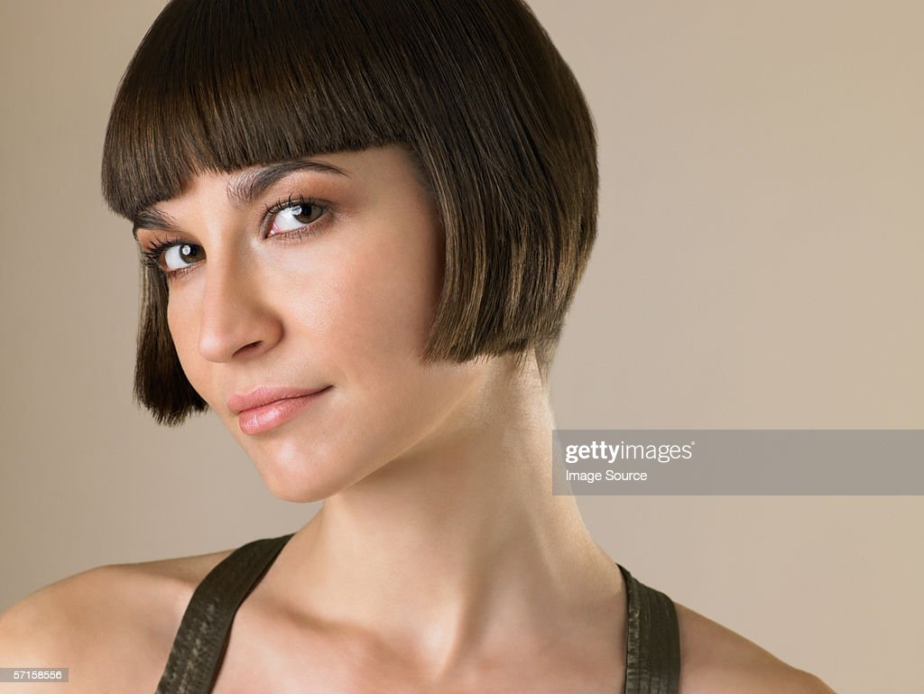 Woman with a bob hairstyle : Stock Photo