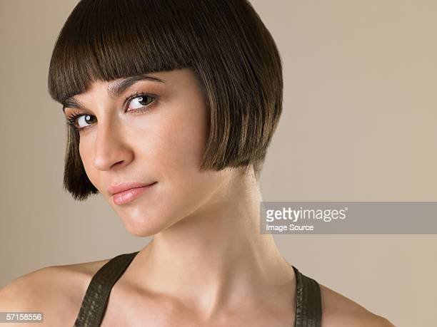 Woman with a bob hairstyle