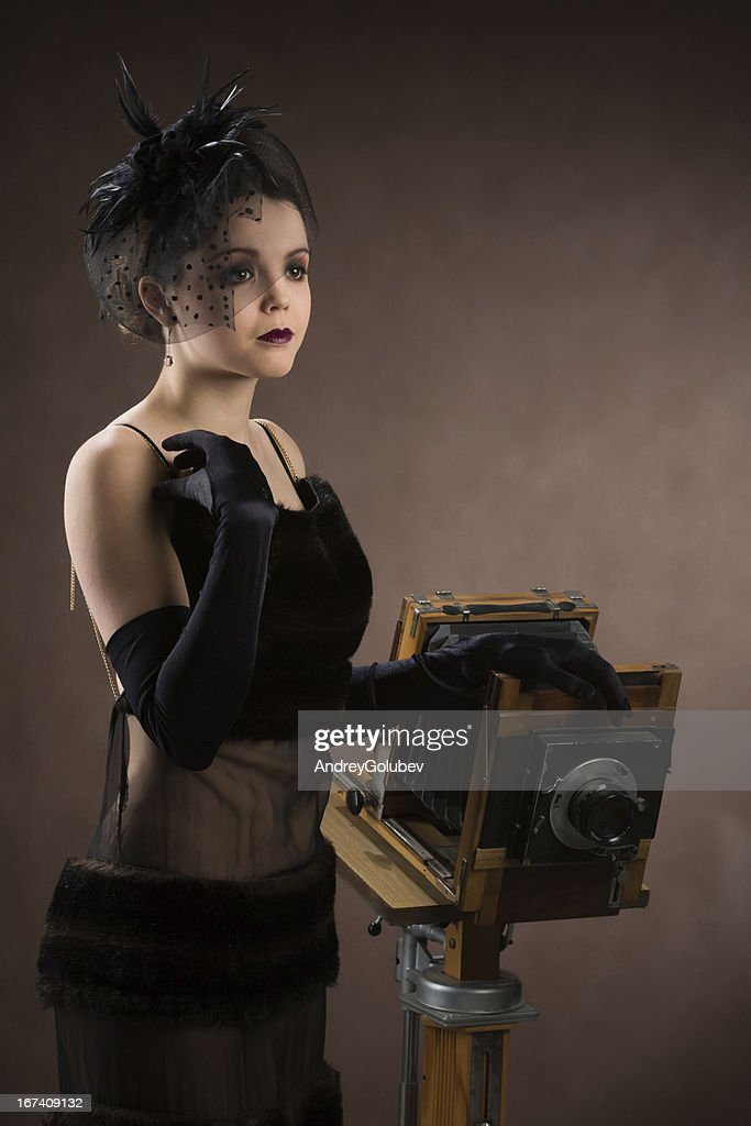 woman  with a camera : Stock Photo