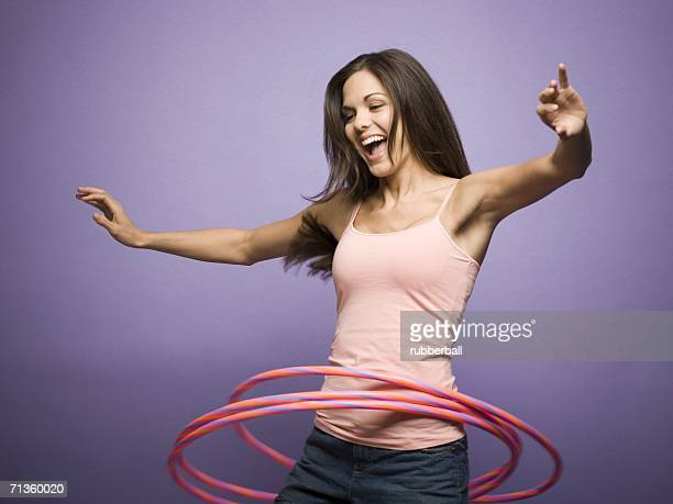 Woman with a hula hoop