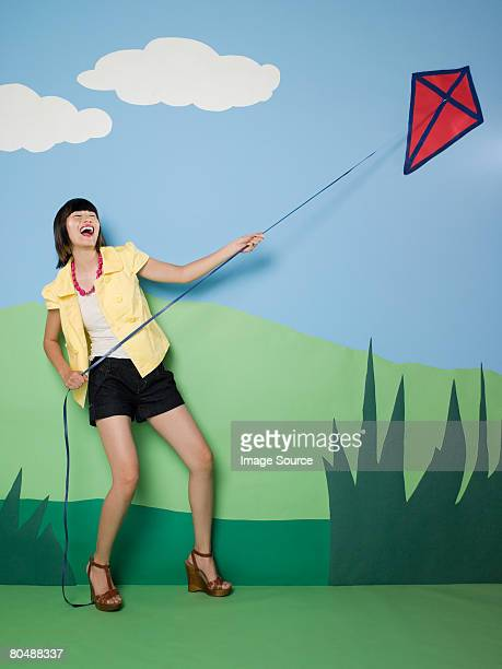 Woman with a kite