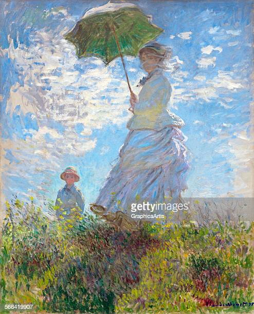 Woman with a ParasolMadame Monet and Her Son by Claude Monet oil on canvas 1875 From the National Gallery Washington DC