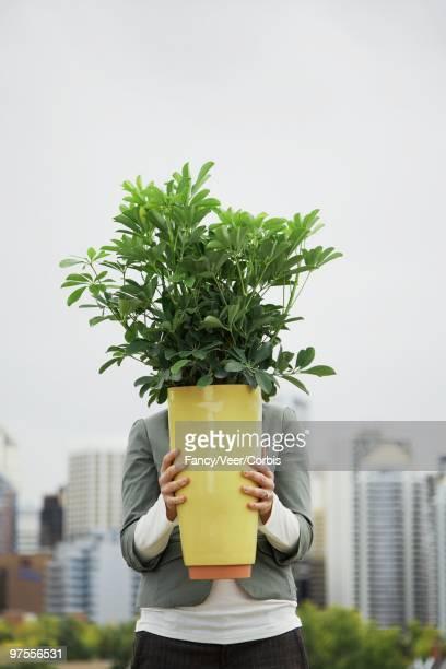 Woman with a Potted Plant