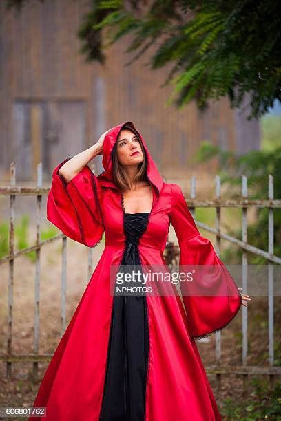 Woman with a red dress