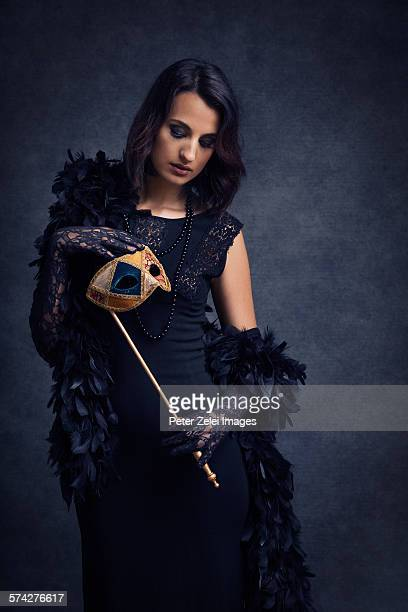 Woman with a venetian mask