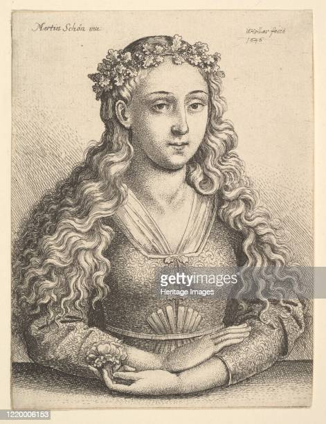 Woman with a Wreath of Oak Leaves 1646 Artist Wenceslaus Hollar