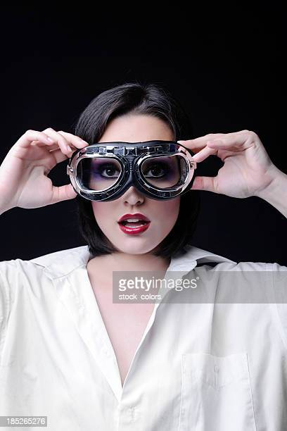 woman with aviator glasses