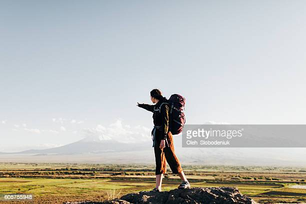 Woman with backpack
