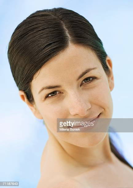 Woman with bare shoulders, portrait