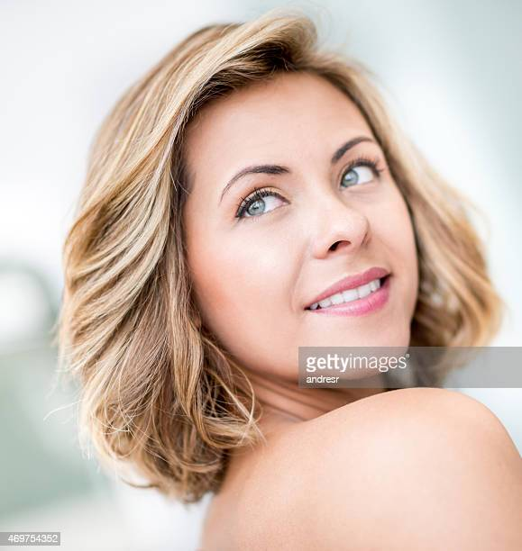Woman with beautiful short hair
