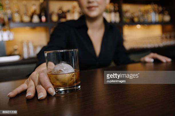 Woman with beverage