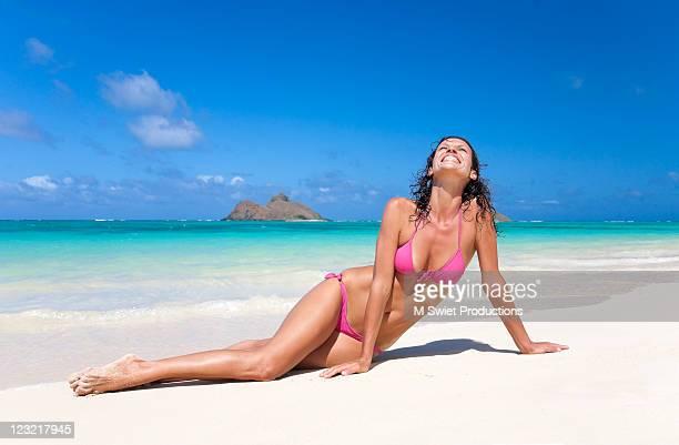 Woman with bikini