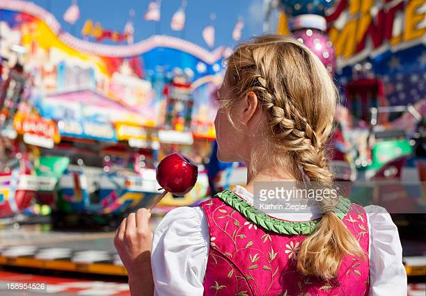 woman with braided hair at Oktoberfest, Munich