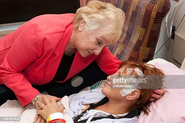 woman with brain trauma