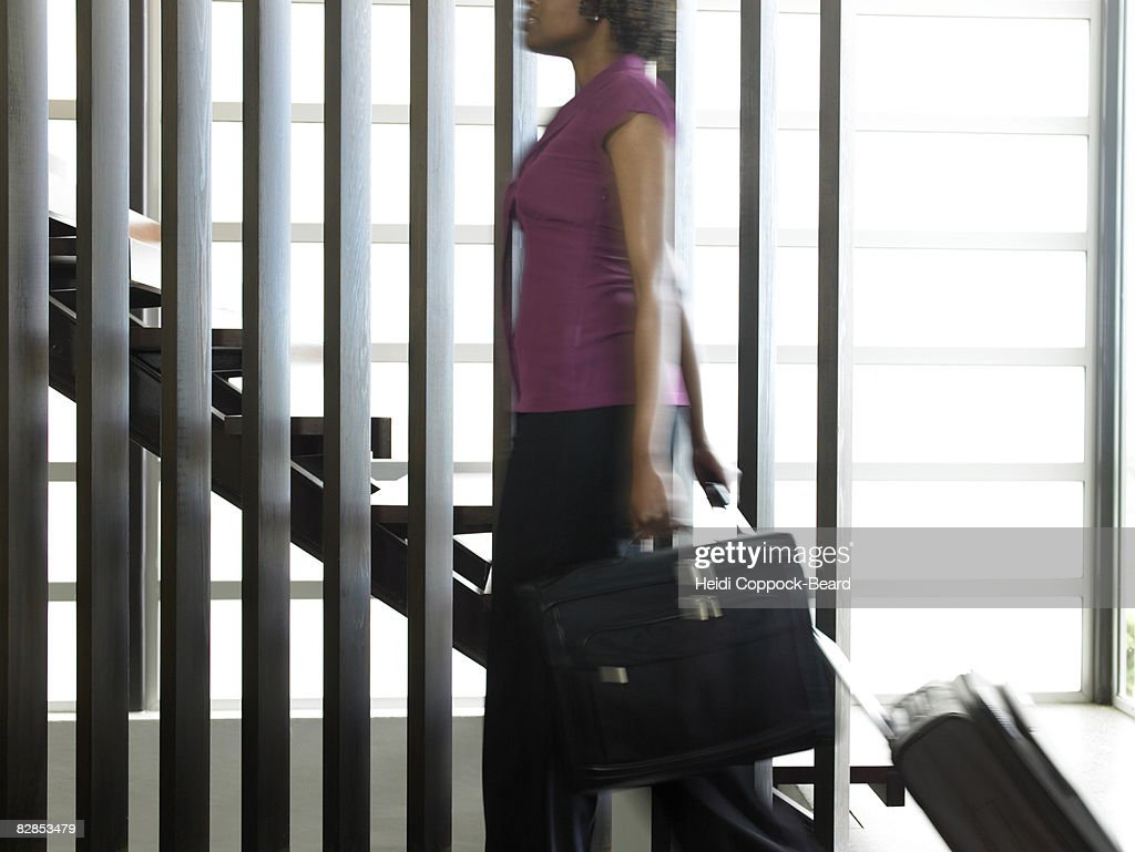 Woman with Briefcase : Stock Photo
