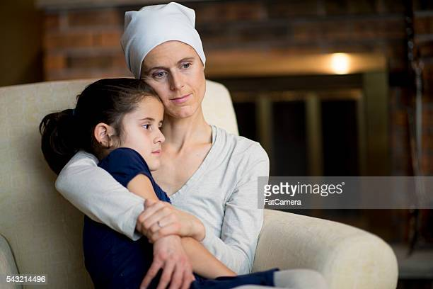 Woman with Cancer Holding Her Daughter