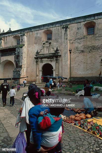 Woman with child at San Cristobal de Las Casas market Chiapas Mexico