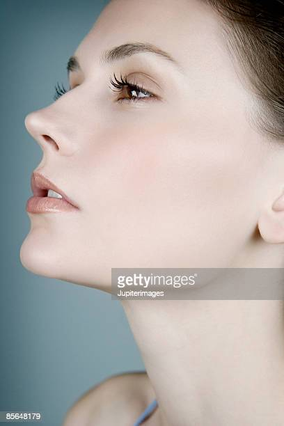 Woman with chin profile