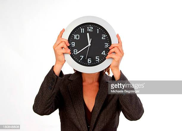 woman with clock head
