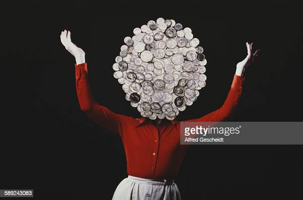 A woman with coins for a head 1979