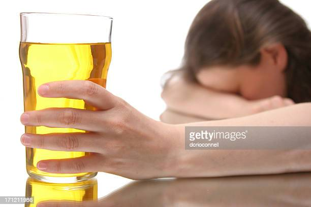 woman with drinking problem