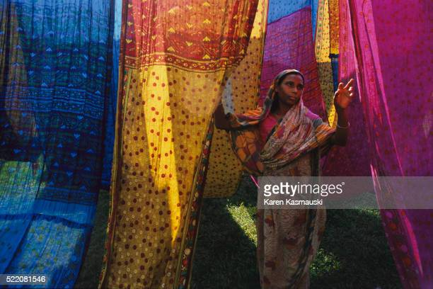 Woman with Dyed Cloth