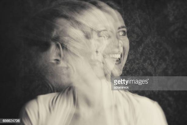 woman with emotional struggles - ghost stock pictures, royalty-free photos & images