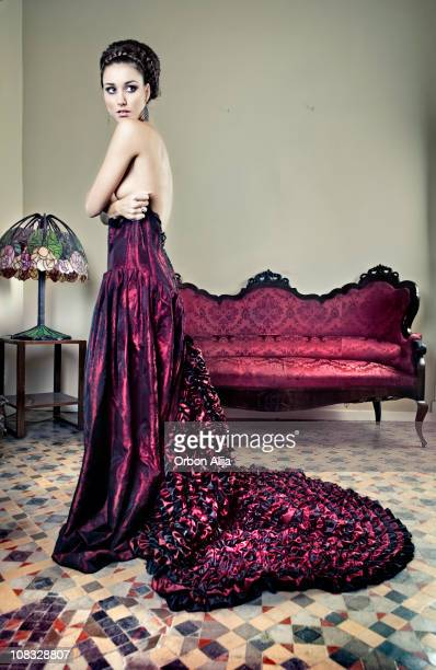 Woman with evening gown