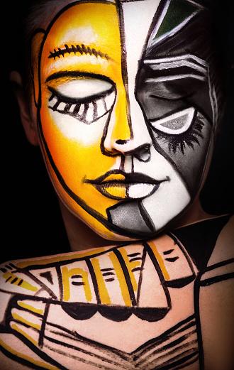 Woman with  Face art, original surrealism make-up 637359194
