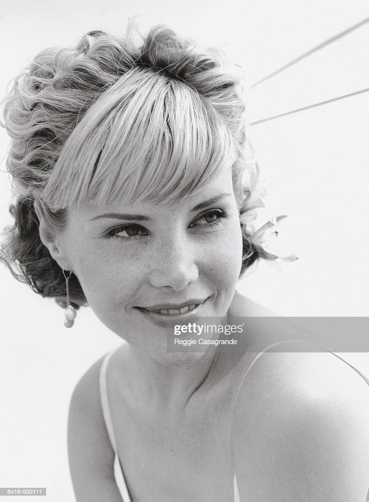 Woman with Formal Hairstyle : Stock Photo