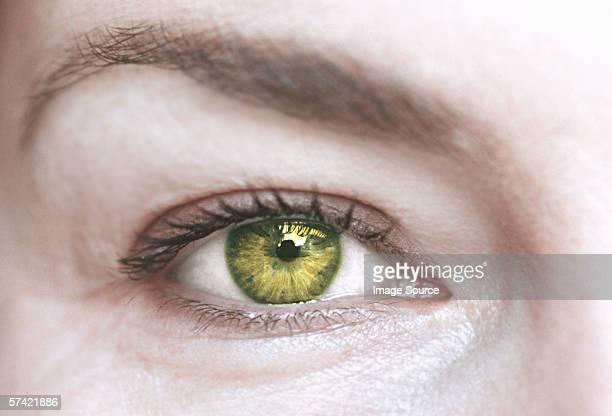 Woman with green eye